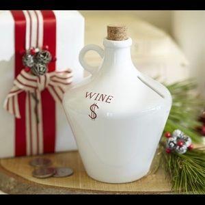 Pottery Barn Wine Money Bank